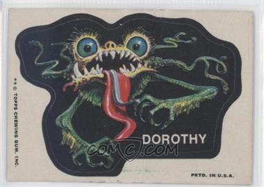 1973-74 Topps Ugly Stickers #DORO - Dorothy
