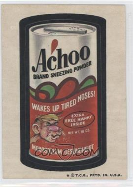 1973-74 Topps Wacky Packages Series 5 - [Base] #N/A - Achoo