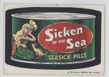 1973-74 Topps Wacky Packages Series 5 - [Base] #N/A - Sicken of the Sea