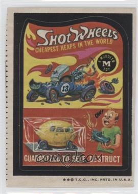 1973-74 Topps Wacky Packages Series 5 #N/A - Shot Wheels