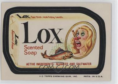1974 Topps Wacky Packages Series 10 - [Base] #LOX - Lox [Good to VG‑EX]