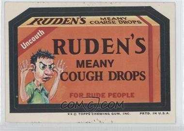 1974 Topps Wacky Packages Series 10 - [Base] #RUDE - Ruden's Meany Cough Drops [Good to VG‑EX]