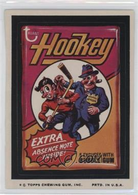 1974 Topps Wacky Packages Series 9 - [Base] #HOOK - Hookey [GoodtoVG‑EX]