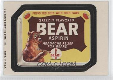1974 Topps Wacky Packages Series 9 #BEAR - Bear Aspirin