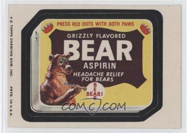 1974 Topps Wacky Packages Series 9 #BEAR - Bear Aspirin