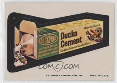 1974 Topps Wacky Packages Series 9 #DUCK - Ducko Cement