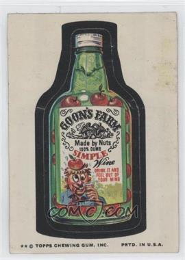 1974 Topps Wacky Packages Series 9 #GOON - Goon's Farm [GoodtoVG‑EX]