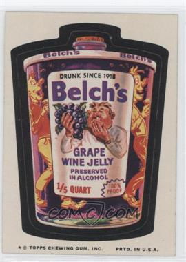 1974 Topps Wacky Packages Series 9 #N/A - Belch's