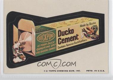 1974 Topps Wacky Packages Series 9 #N/A - Ducko Cement