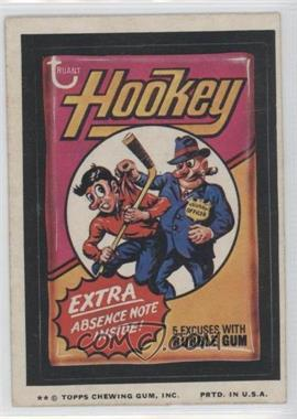 1974 Topps Wacky Packages Series 9 #N/A - Hookey