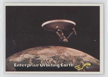 1976 Topps Star Trek #18 - Enterprise Orbiting Earth