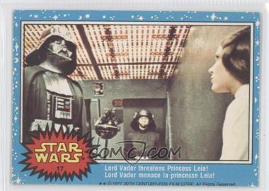 1977 O-Pee-Chee Star Wars - [Base] #17 - Lord Vader Threatens Princess Leia!