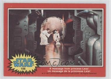 1977 O-Pee-Chee Star Wars #106 - [Missing]