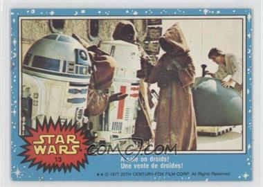 1977 O-Pee-Chee Star Wars #13 - A Sale On Droids!