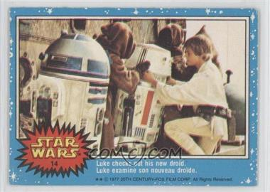 1977 O-Pee-Chee Star Wars #14 - Luke Checks Out His New Droid