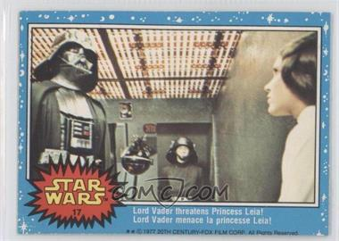 1977 O-Pee-Chee Star Wars #17 - Lord Vader Threatens Princess Leia!