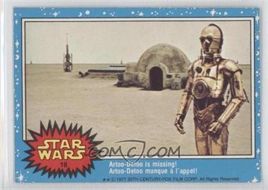 1977 O-Pee-Chee Star Wars #18 - Artoo-detoo Is Missing!
