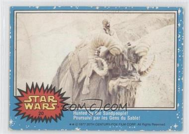 1977 O-Pee-Chee Star Wars #20 - Hunted By The Sandpeople!
