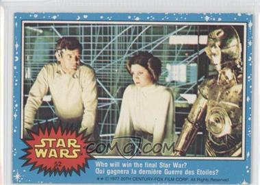 1977 O-Pee-Chee Star Wars #52 - Who Will Win The Final Star War?