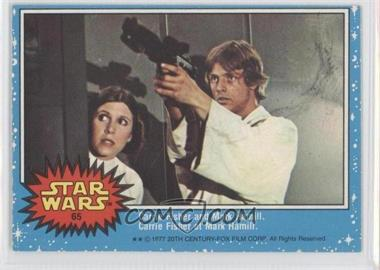 1977 O-Pee-Chee Star Wars #65 - Carrie Fisher and Mark Hamill.