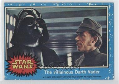 1977 Topps Star Wars - [Base] #7 - The Villainous Darth Vader