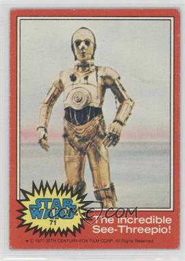 1977 Topps Star Wars - [Base] #71 - The Incredible See-Threepio! [GoodtoVG‑EX]