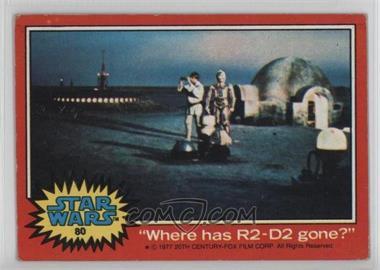 "1977 Topps Star Wars - [Base] #80 - ""Where has R2-D2 gone?"" [GoodtoVG‑EX]"