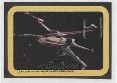 1977 Topps Star Wars - Stickers #11 - X-Wing, Tie Fighter