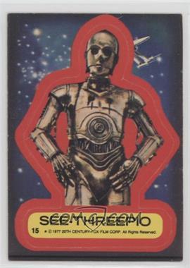 1977 Topps Star Wars - Stickers #15 - See-Threepio