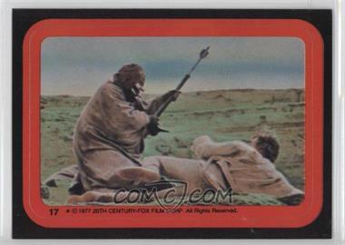 1977 Topps Star Wars - Stickers #17 - Tusken Raider Attacks Luke