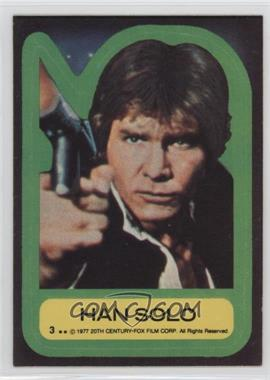 1977 Topps Star Wars - Stickers #3 - Han Solo