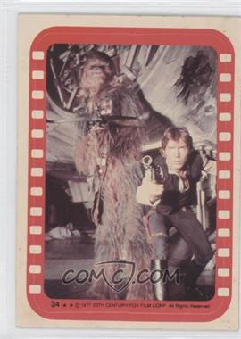 1977 Topps Star Wars - Stickers #34 - Chewbacca and Han