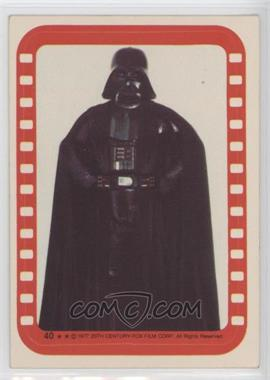 1977 Topps Star Wars - Stickers #40 - Lord Darth Vader