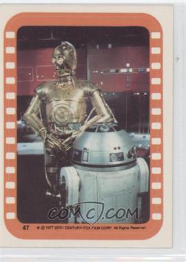 1977 Topps Star Wars - Stickers #47 - See-Threepio and Artoo-Detoo