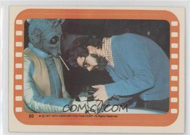 1977 Topps Star Wars - Stickers #50 - George Lucas and Greedo