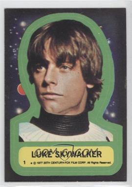 1977 Topps Star Wars Stickers #1 - Luke Skywalker