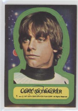1977 Topps Star Wars Stickers #1 - Luke Skywalker [Poor to Fair]