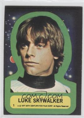 1977 Topps Star Wars Stickers #1 - Luke Skywalker