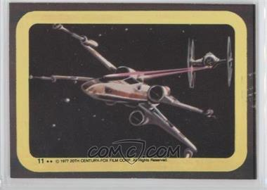 1977 Topps Star Wars Stickers #11 - X-Wing, Tie Fighter