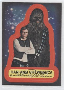 1977 Topps Star Wars Stickers #12 - Han and Chewbacca