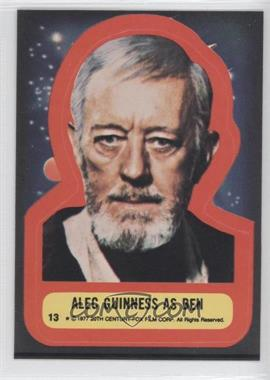 1977 Topps Star Wars Stickers #13 - Alec Guinness as Ben