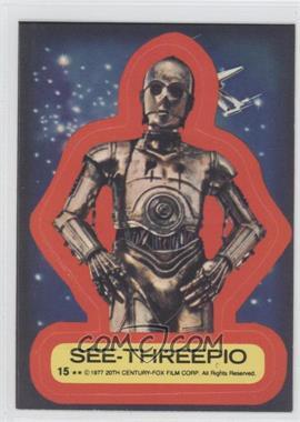 1977 Topps Star Wars Stickers #15 - See-Threepio