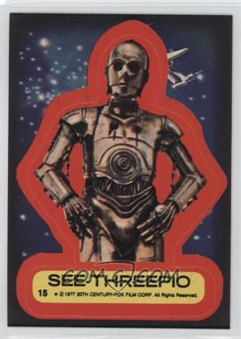1977 Topps Star Wars Stickers #15 - See-Threepio