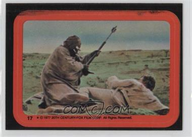 1977 Topps Star Wars Stickers #17 - Tusken Raider Attacks Luke