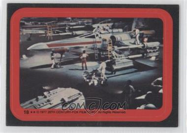 1977 Topps Star Wars Stickers #18 - X-Wing [Good to VG‑EX]