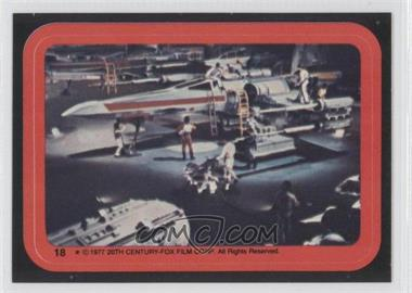 1977 Topps Star Wars Stickers #18 - X-Wing