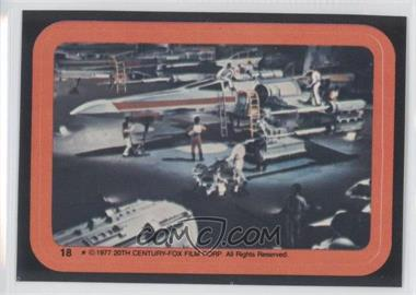 1977 Topps Star Wars Stickers #18 - X-Wing [GoodtoVG‑EX]