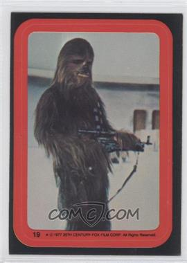1977 Topps Star Wars Stickers #19 - Chewbacca