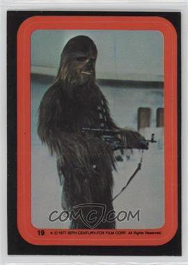 1977 Topps Star Wars Stickers #19 - Chewbacca