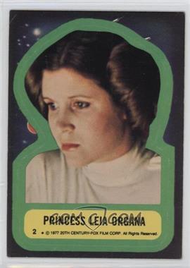 1977 Topps Star Wars Stickers #2 - Princess Leia Organa